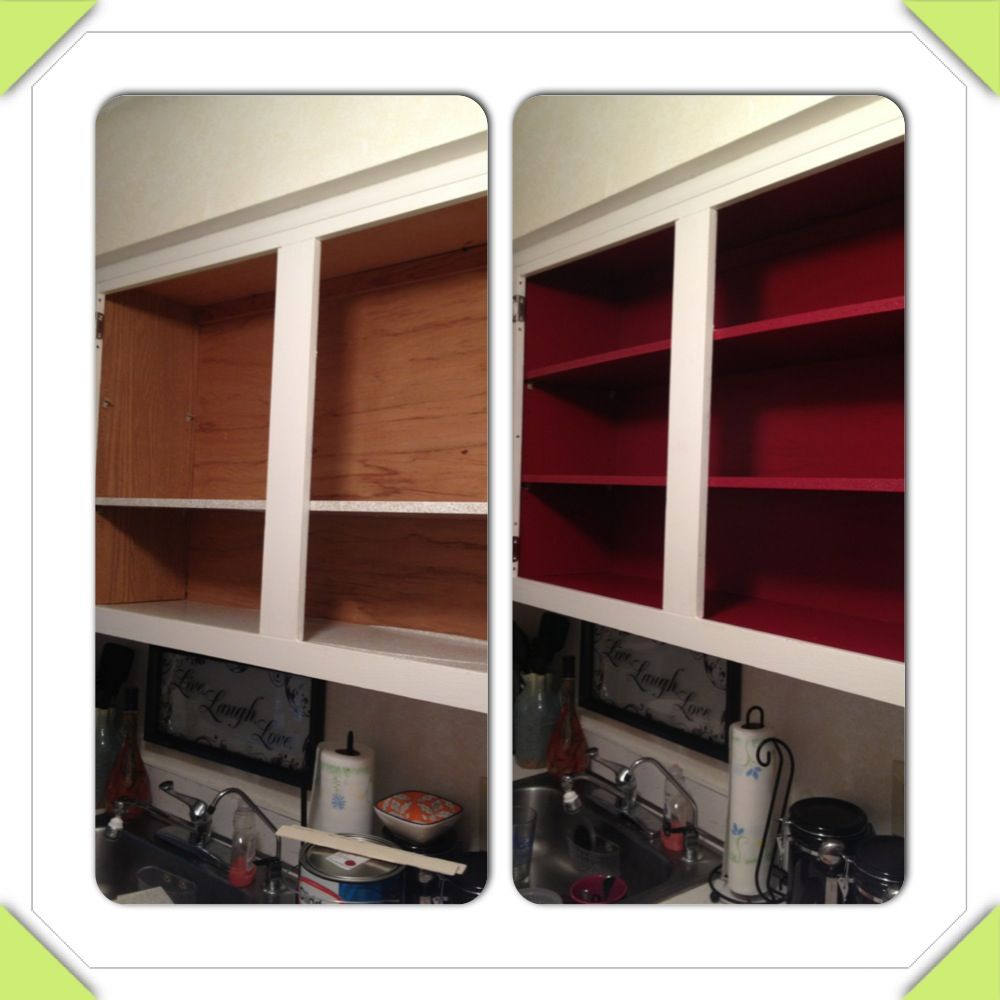 Best I Painted The Inside Of My Kitchen Cabinets Used 2 In 1 400 x 300