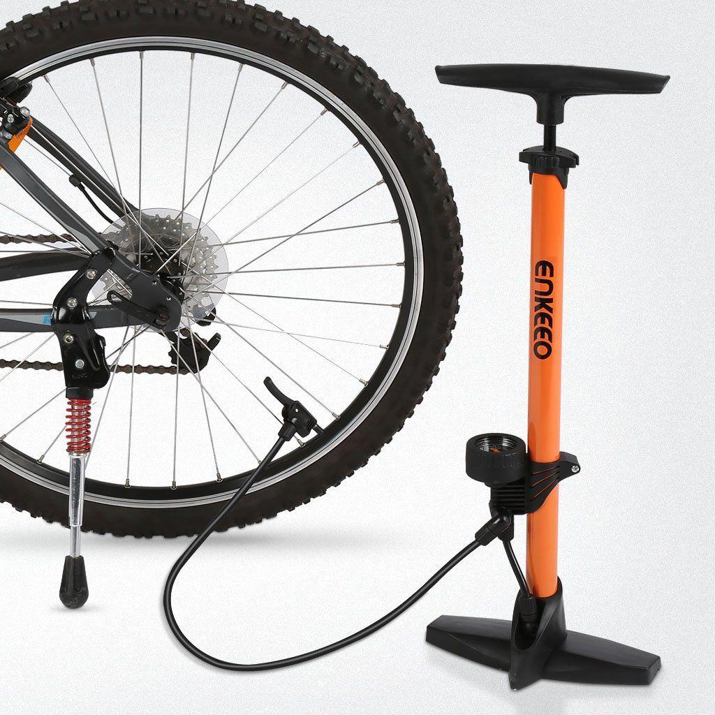 Enkeeo Bicycle Floor Pump With Gauge For Max 160psi Capacity