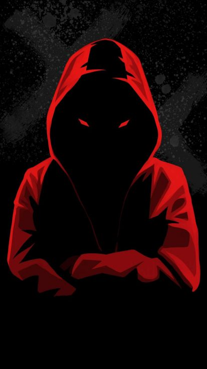 Dark Hoodie Person iPhone Wallpaper - iPhone Wallpapers