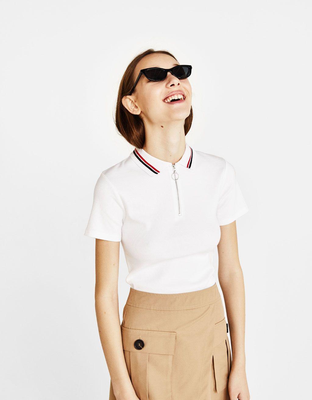3f8c495022b6d Zip-up polo shirt Chemise De Polo, Course À Pied, Articles, Polos