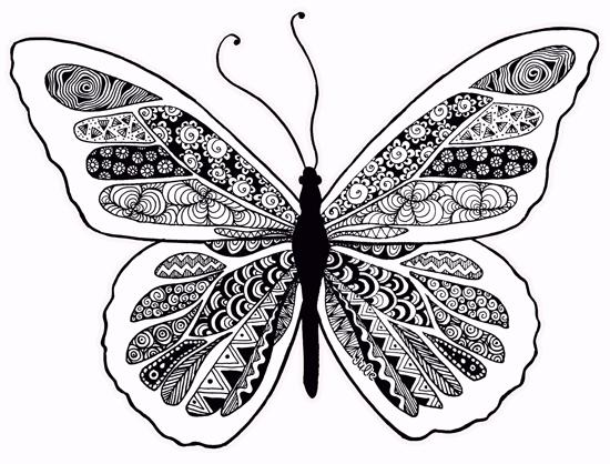 Butterfly Zentangle Design by starliteyes420 @ deviantART ...