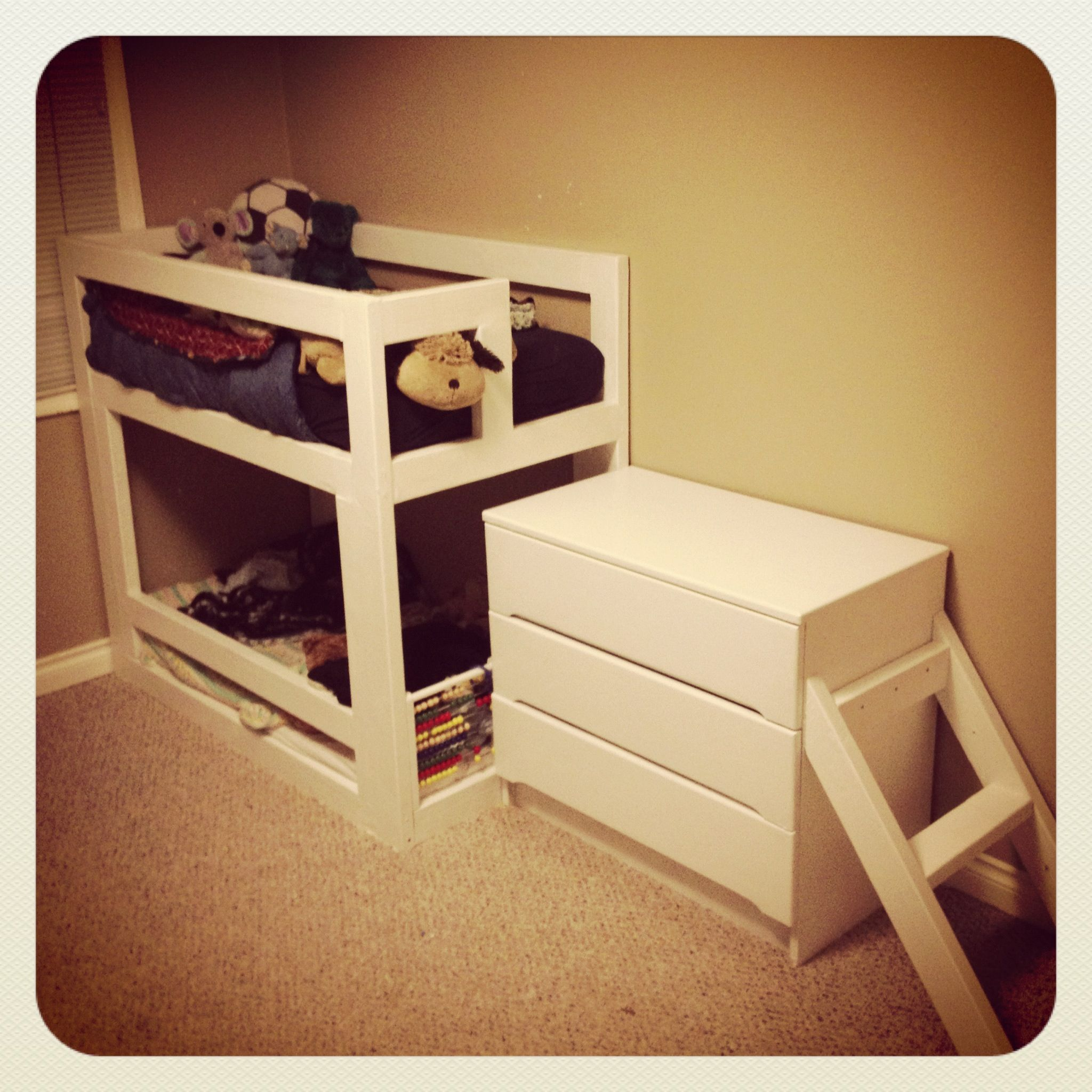 Crib mattress BunkBed. 2x4x8 (7) 2x3x8 (1) Repurposed Dresser Screws ...