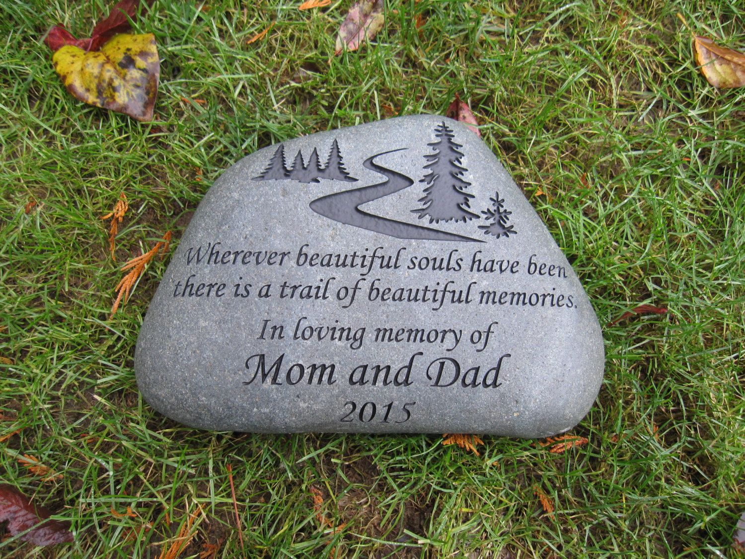 is accent garden outdoor memory pin stones green memorial kay berry your stone d pet cor