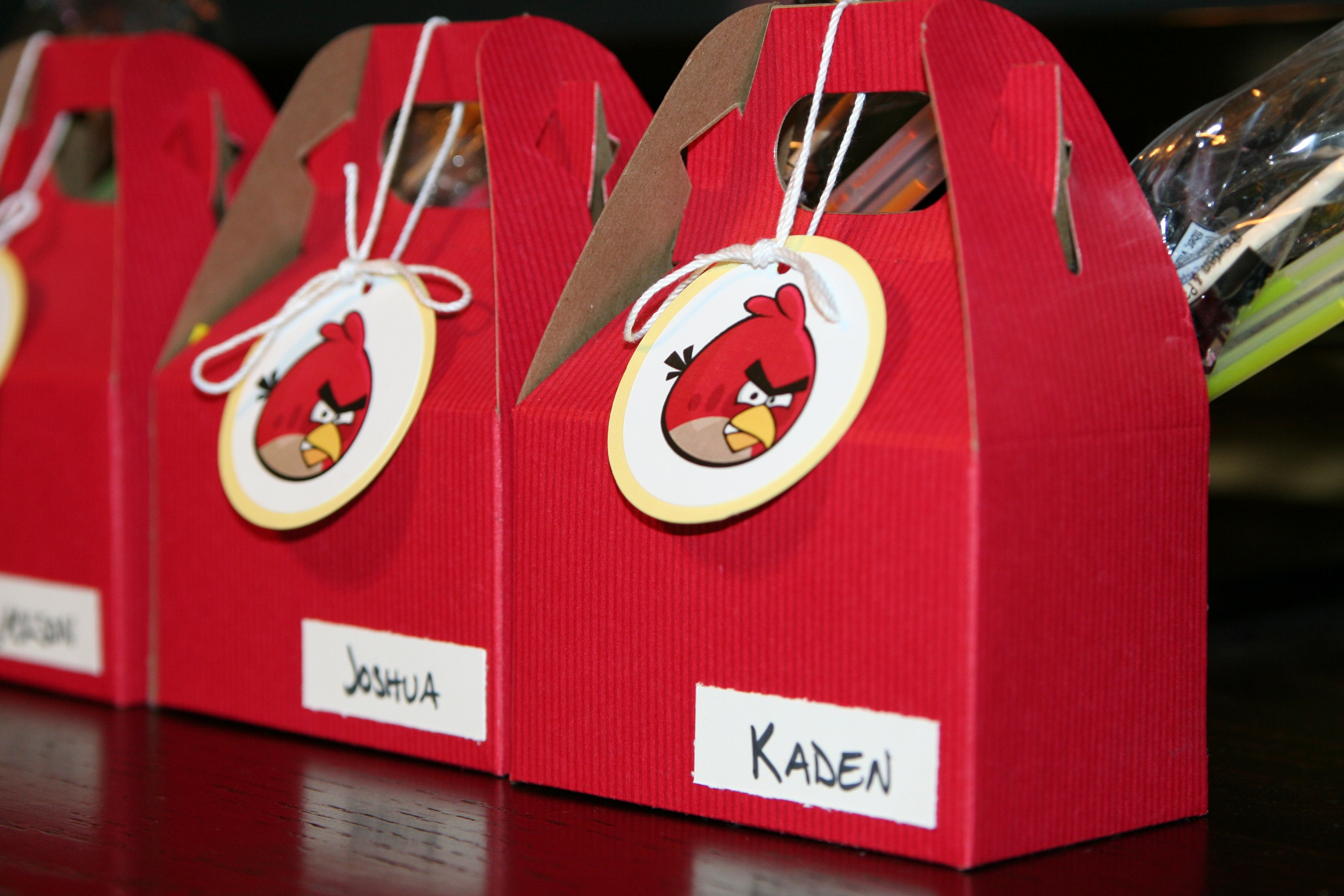 Angry Bird gift boxes