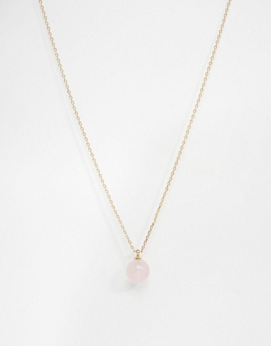 0f5fddb9762f85 Pilgrim Rose Quartz Pendant Necklace | Jewelry | Pendant necklace ...