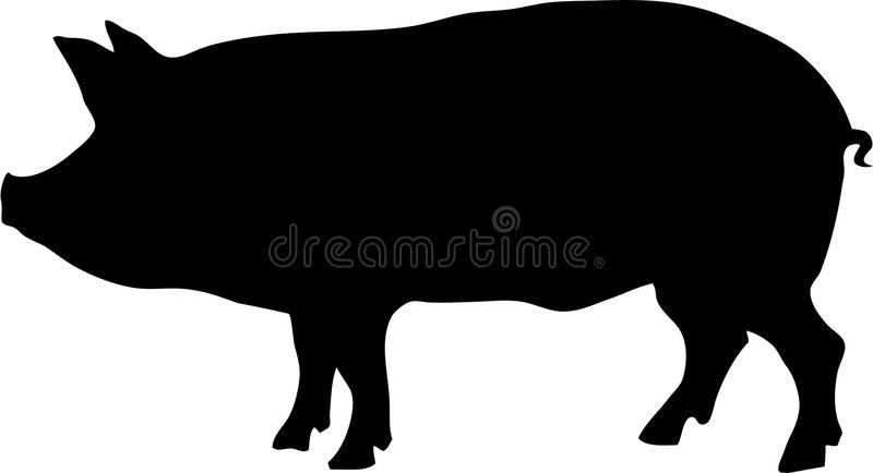 Contour Of Pig Vector Illustration Ad Pig Contour Illustration Vector Ad Pig Silhouette Animal Silhouette Pig Art