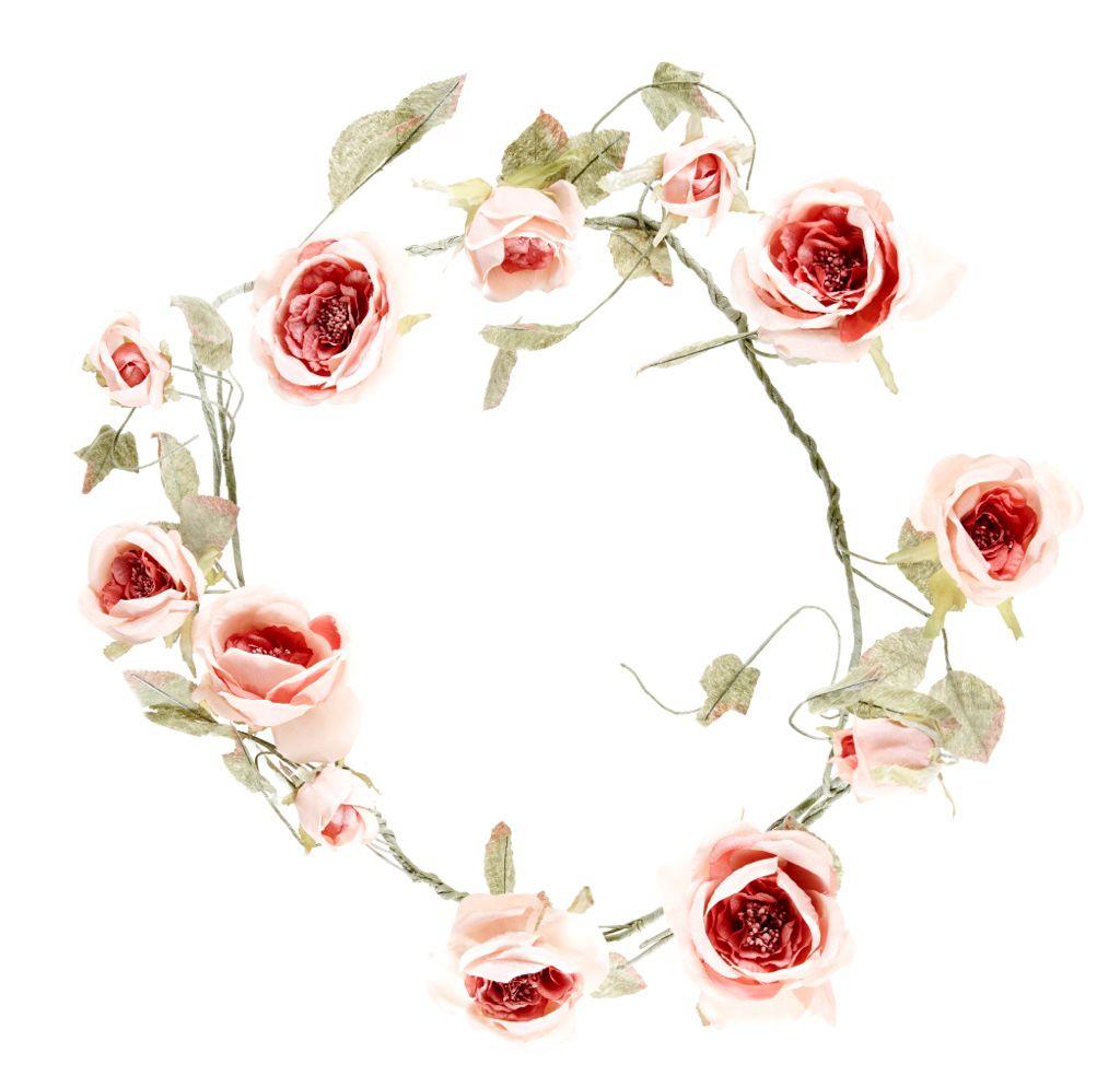 Großartig Girlande Rose Vintage, 90 Cm Girlande Im Rosen Look Für Ihre Romantischen  Deko Ideen.