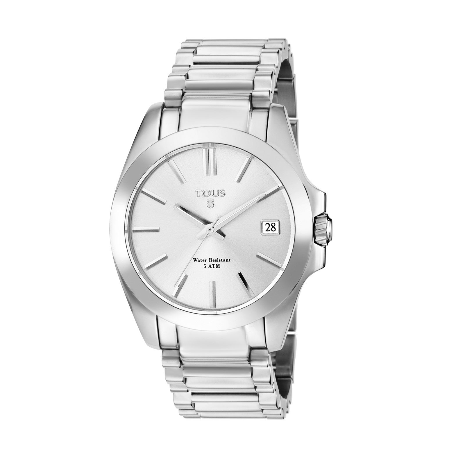 Stainless Steel Case Water Resistant 5 Atm Mineral Plane Crystal Quartz Vj52b Movement Functions Hours Minutes Seconds And Day Of The Month