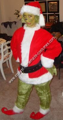 Coolest homemade grinch halloween costume idea pinterest grinch homemade grinch halloween costume idea this costume idea was the perfect costume for me not only do i love the grinch who stole christmas solutioingenieria Image collections
