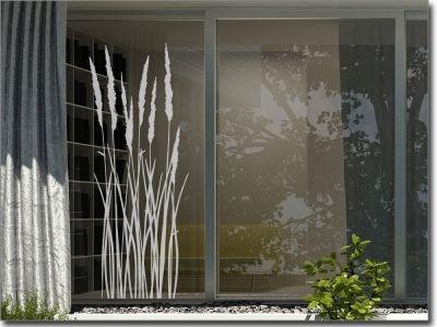 gr ser und bambus aufkleber f r fensterscheiben sichtschutzfolie fensterfolie glasdekor. Black Bedroom Furniture Sets. Home Design Ideas