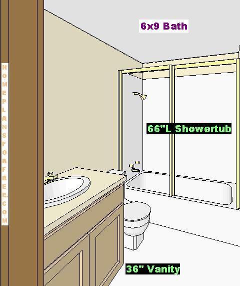 Bathroom Layout Plans: 9x6 Bathroom Layout - Google Search