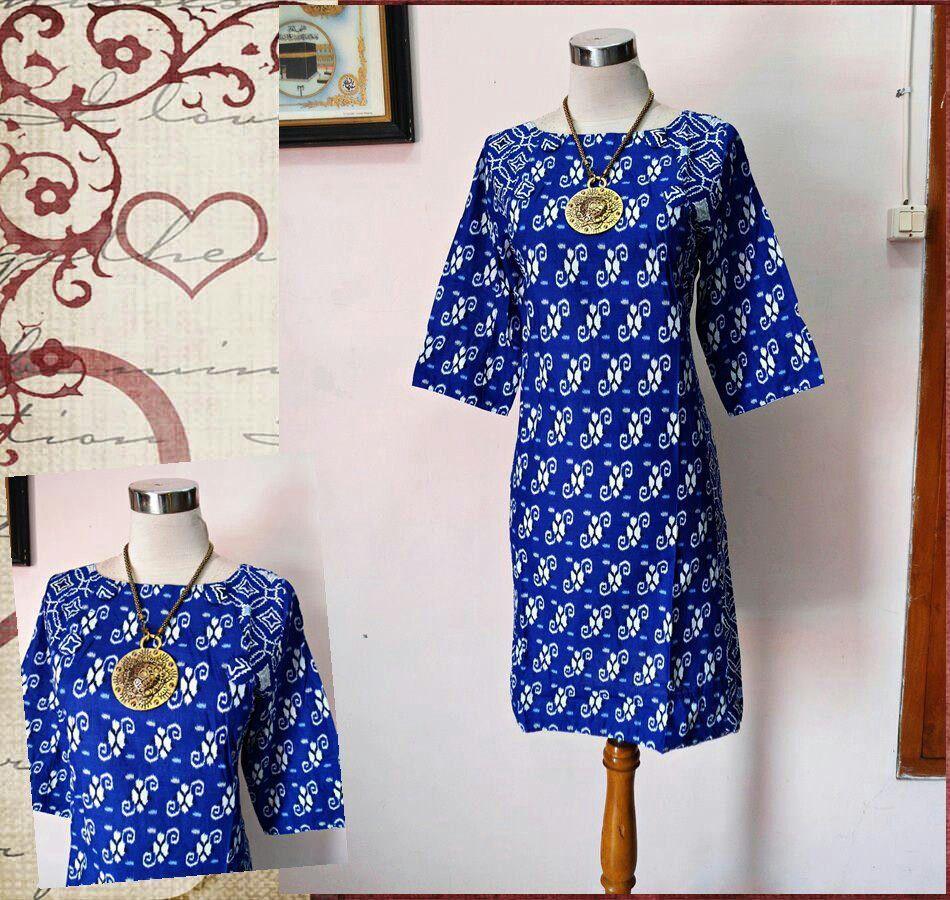 Batik Tulis Dress: Blue Batik Dress