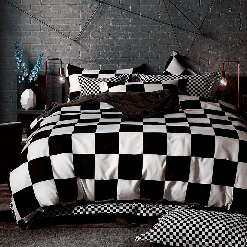 Black White Bedding Sets King Duvet Quilt Cover Set Linens Russia Usa Size Bedroom Bedding Contains Qui House De Couette Ensembles De Literie Housse De Couette