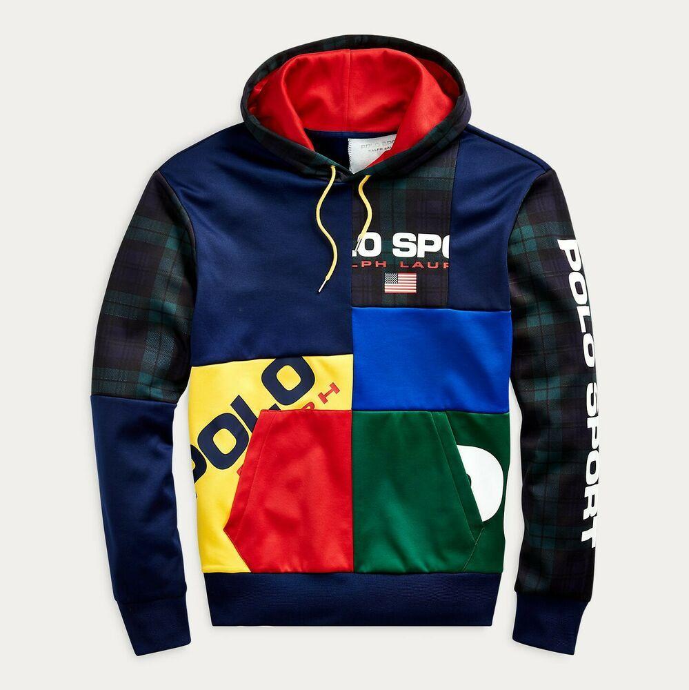 Polo Ralph Lauren Men US Flag Color Blocked Patchwork