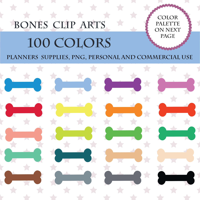 Bone Planner Clipart Dog Food Sticker 100 Bones Illustrations