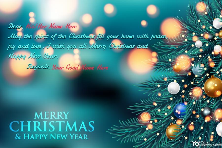 Make Your Name On Sparkling Christmas Greeting Card Christmas Greeting Cards Christmas Greetings Christmas Card Maker