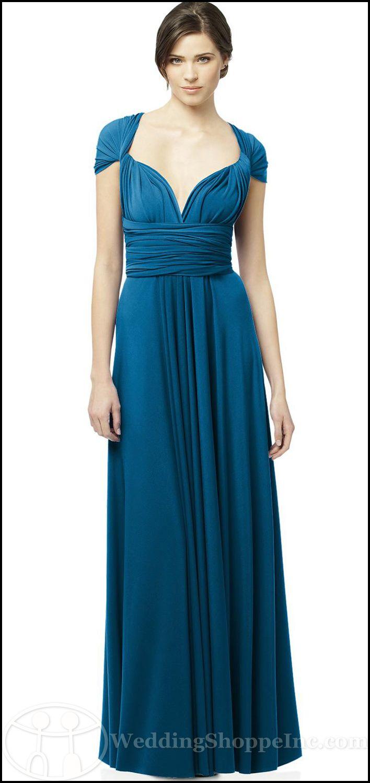 The dessy twist dress wear it any way you like twist in ocean