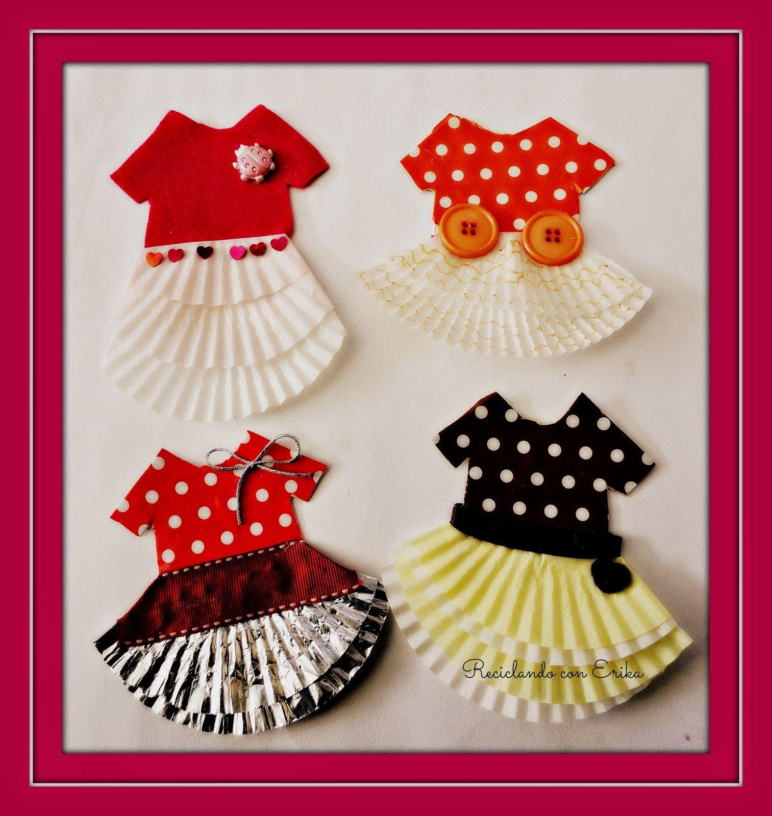 C mo hacer bailarinas de papel con moldes de cup cakes jumping clay cupcake liners and craft - Manualidades con papel craft ...