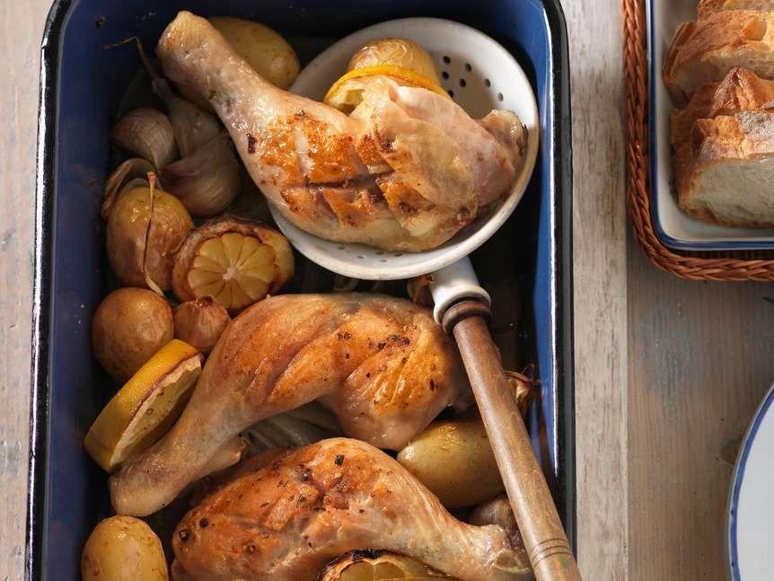 Ofen-Poulet mit Kartoffeln und Zitrone | Migusto #kartoffelnofen