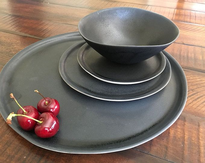 Modern Rustic Dinnerware Place Setting Handmade Ceramic & Modern Rustic Dinnerware Place Setting Handmade Ceramic Stoneware ...