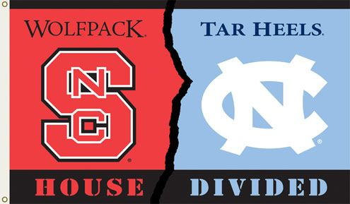 University of North Carolina Tar Heels UNC House Flag College Flags and Banners Co