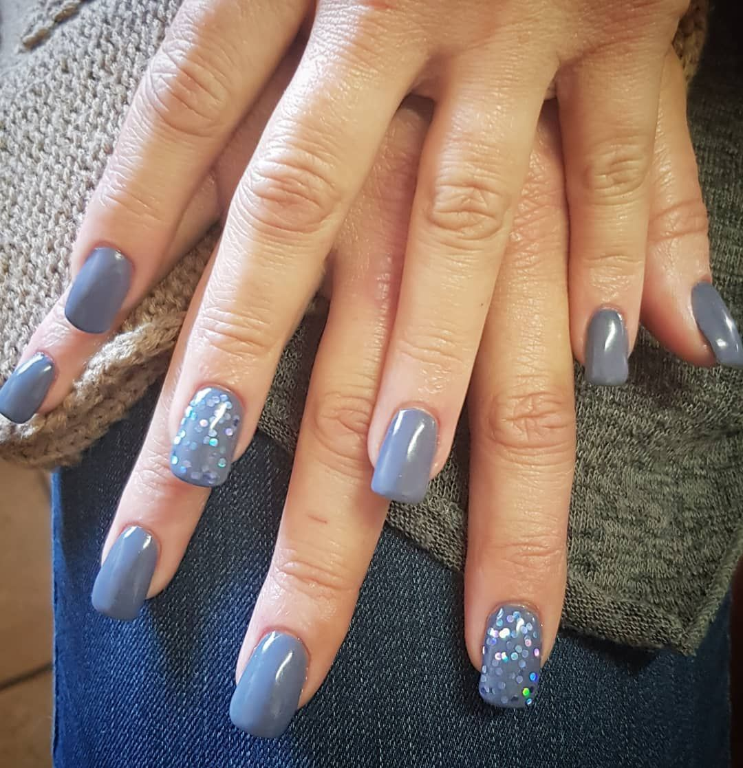 Stunning Dip Powder In Winter Lake From Popsicleprofessionalnails