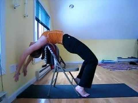 urdhva dhanurasana instructional series 2  chair as prop
