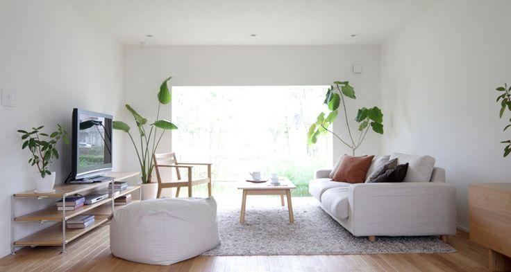 Designs Nach Stil, Weiß Moderne Wohnzimmer Sofas Und Teppich:  Zeitgenössische Japanische