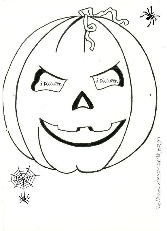 Masques d 39 halloween colorier imprimer automne - Masque halloween a colorier ...