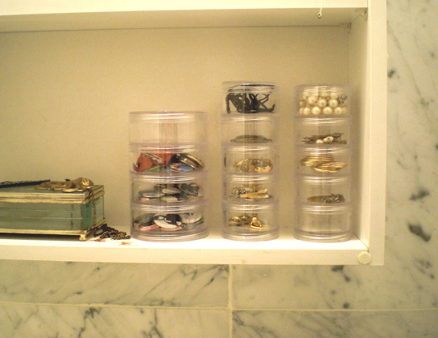 Attractive 7 Section Stacking Pill Organizer At The Container Store