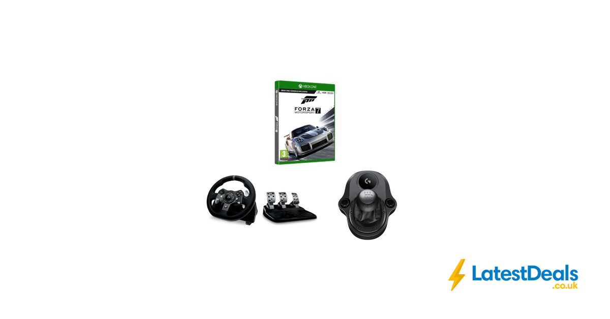 Logitech Driving Force Racing Wheel Pedals Shifter Forza