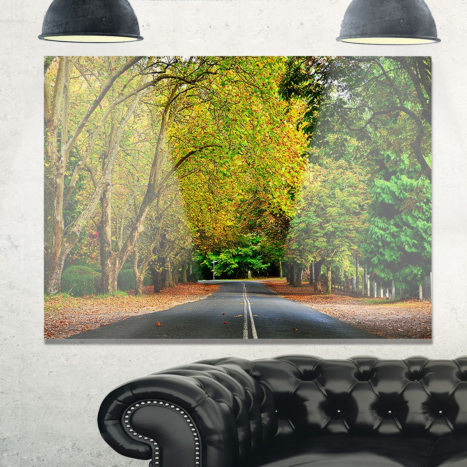 Road through Stunning Greenery - Landscape Glossy Metal Wall Art by ...