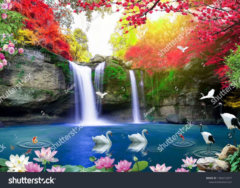 3d Beautiful Backgrounds Sea And Waterfall Bird Fish Sponsored Ad Sea Backgrounds Beautiful Fish Beautiful Backgrounds Stock Photos Beautiful Fish