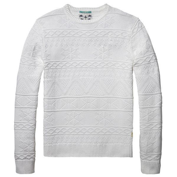 Snowflake White Knitted Sweater