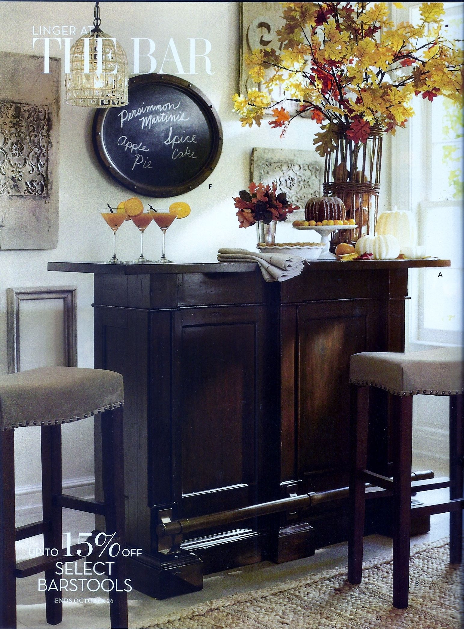 Cute Lil In Corner Bar Dining Room Design Pottery