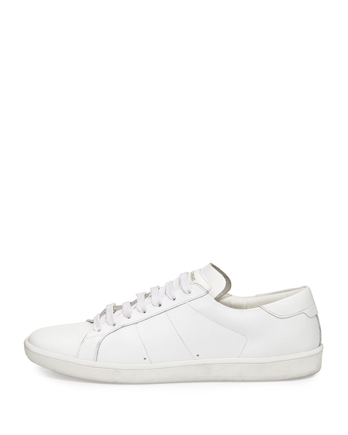 e0a8facacfc Saint Laurent low-top sneaker in calfskin leather. Round toe; lace-up front…