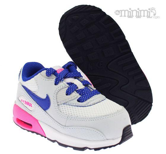 code promo 39d40 5ac6a Nike Air Max 90 - baskets enfant - Gris, rose et bleu La ...