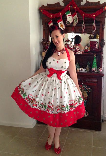 Sew Retro Rose: Christmas Outfit No. 4 - My Ultimate Christmas Dress! - Sew Retro Rose: Christmas Outfit No. 4 - My Ultimate Christmas Dress