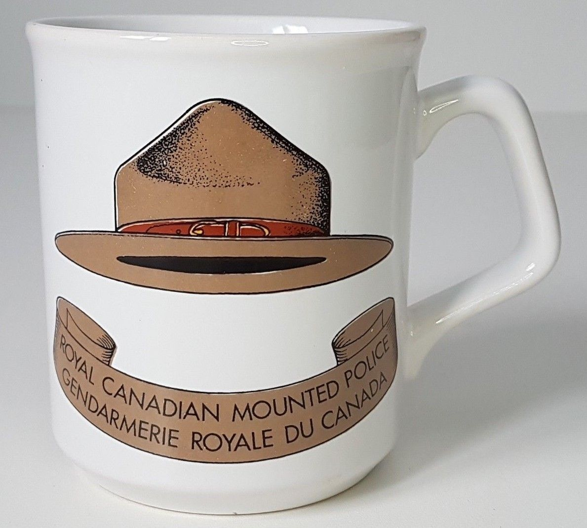 Vintage RCMP hat Coffee Mug Royal Canadian Mounted Police
