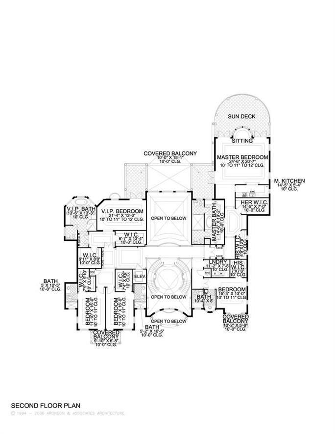2nd floor - 11,027 sq ft, 7 bed, 7 bath, 7 half bath, 3 car garage