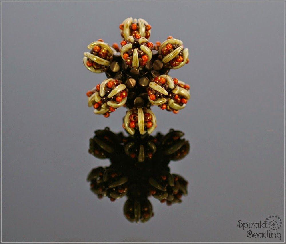 Spirala beading: Cactus Beaded Bead