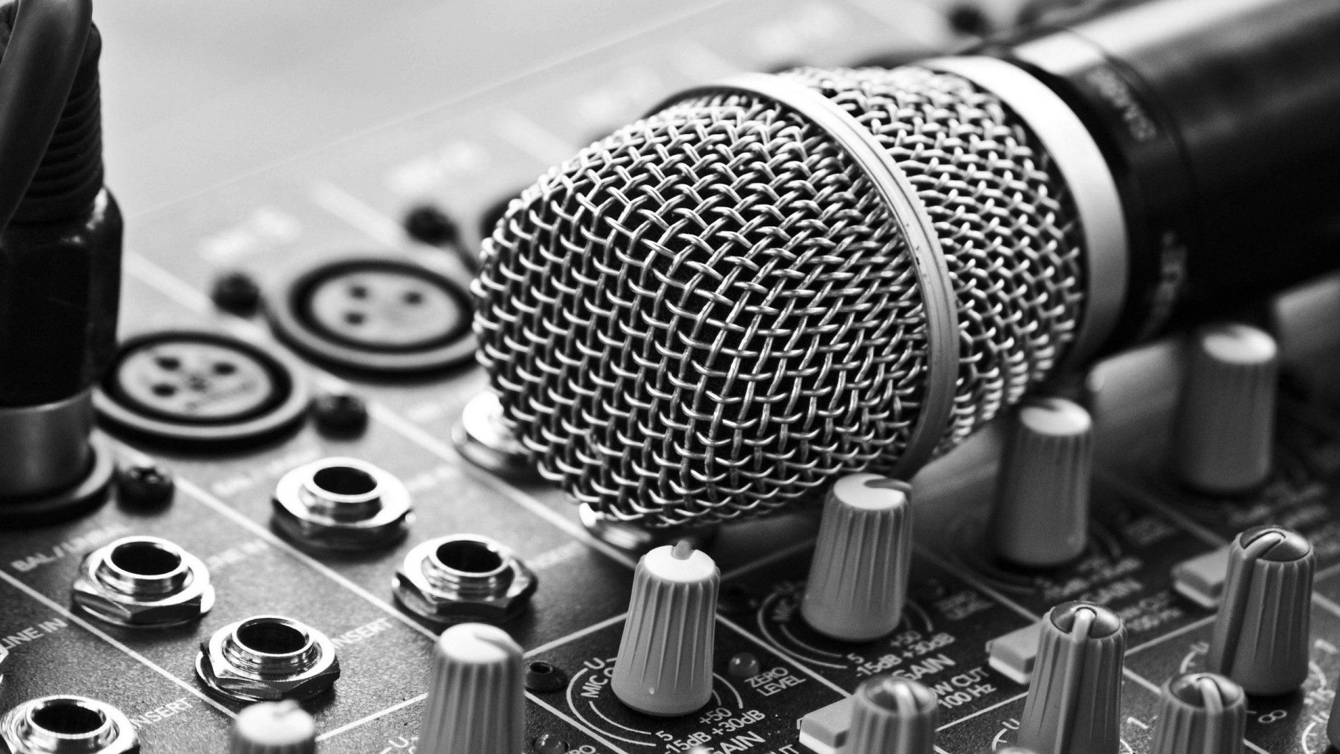 Black And White Music Music Wallpaper Music Pictures Microphone