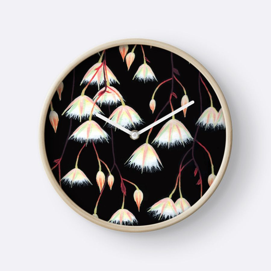 """Elaeocarpus, acrylic art"" Clocks by ptitsa-tsatsa 
