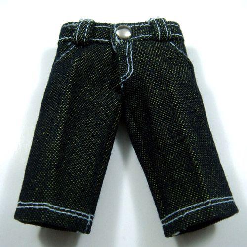 Dark Green 4-Pockets Jeans for Lati Yellow