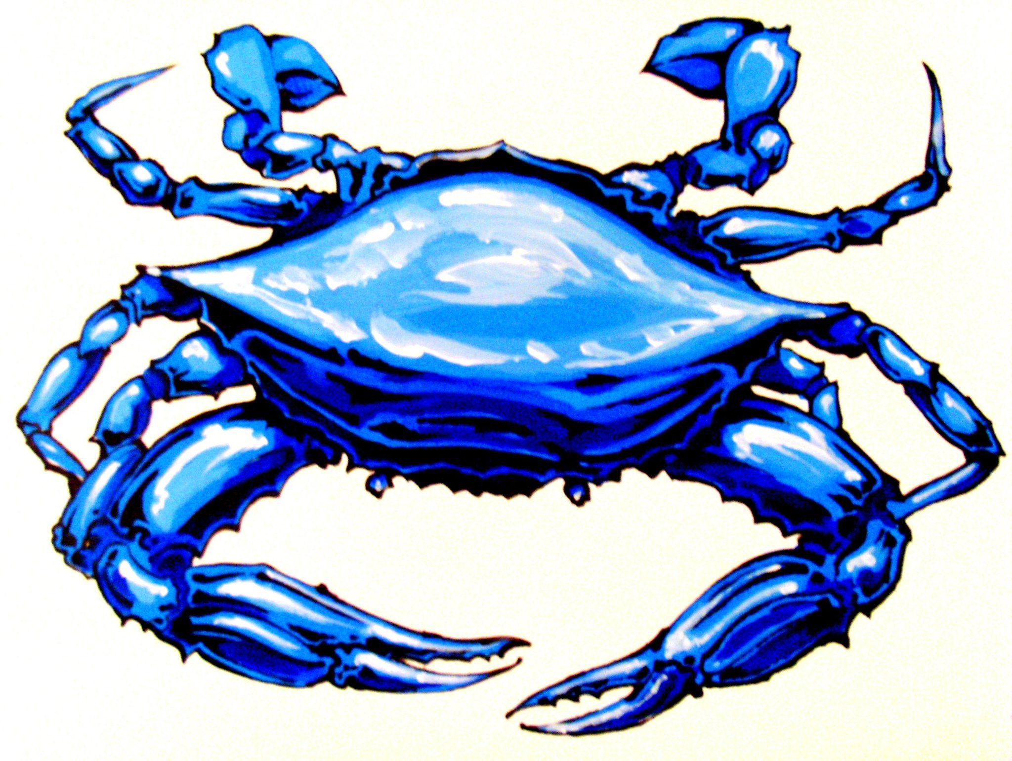 blue crab painting clipart panda free clipart images [ 2048 x 1541 Pixel ]