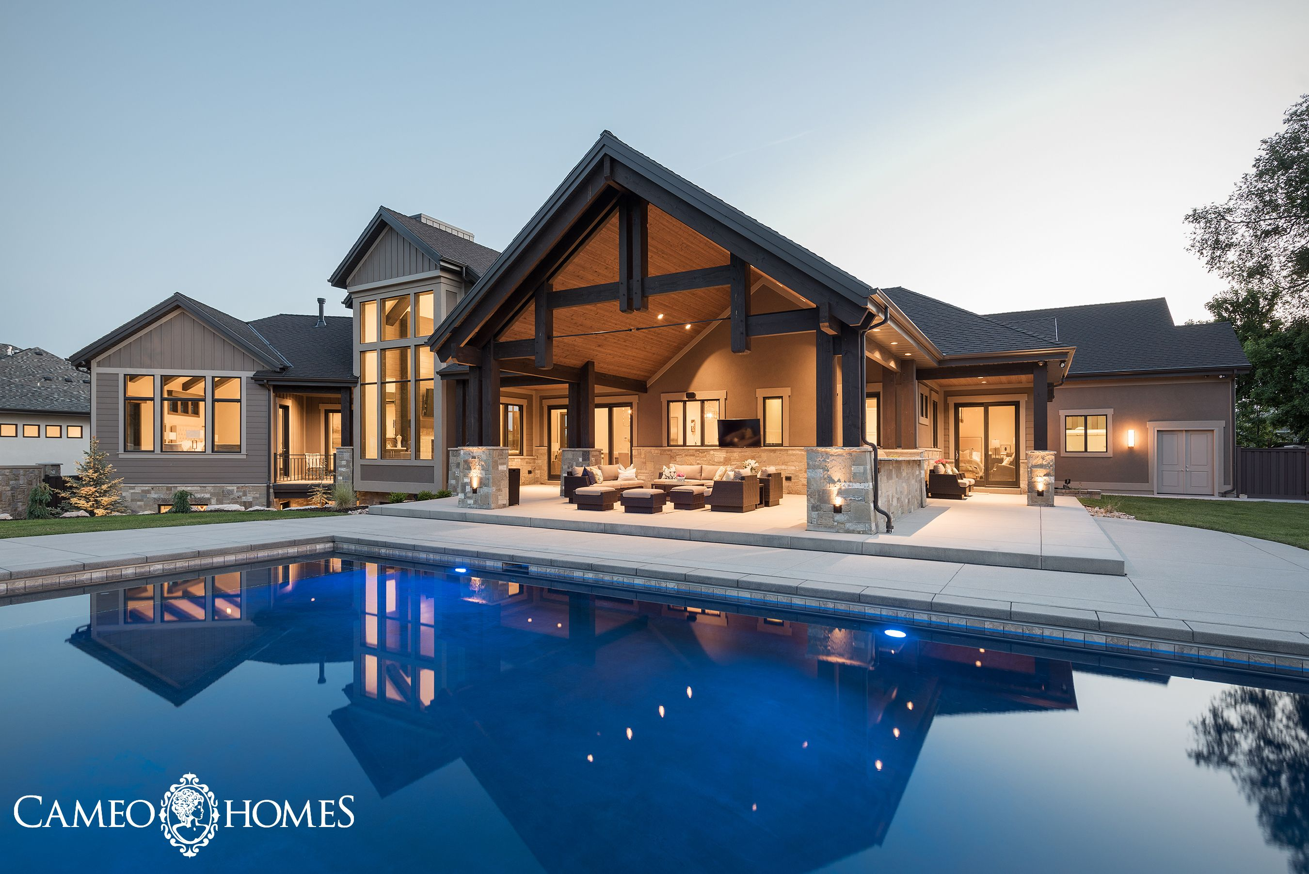 what a beautiful backyard and pool home built by cameo homes inc