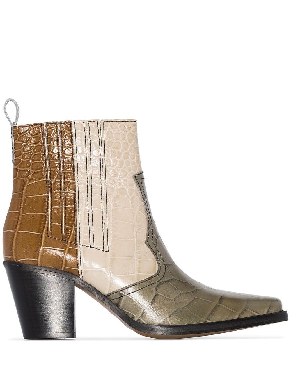 huge discount 1eada f77a6 Ganni Callie 70mm cowboy boots - Multicoloured in 2019 ...