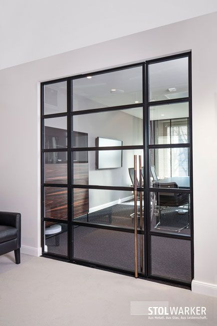 stahl loft t r office stahl glas t ren pinterest glas t ren und haus. Black Bedroom Furniture Sets. Home Design Ideas
