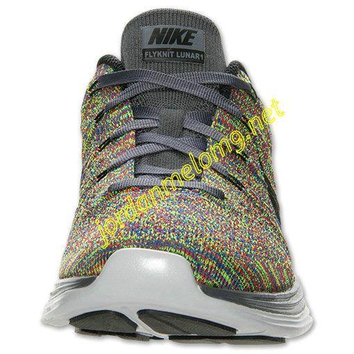 Dark Grey Rainbow Multi Color 554887 004 Nike Flyknit Lunar 1 Mens Black