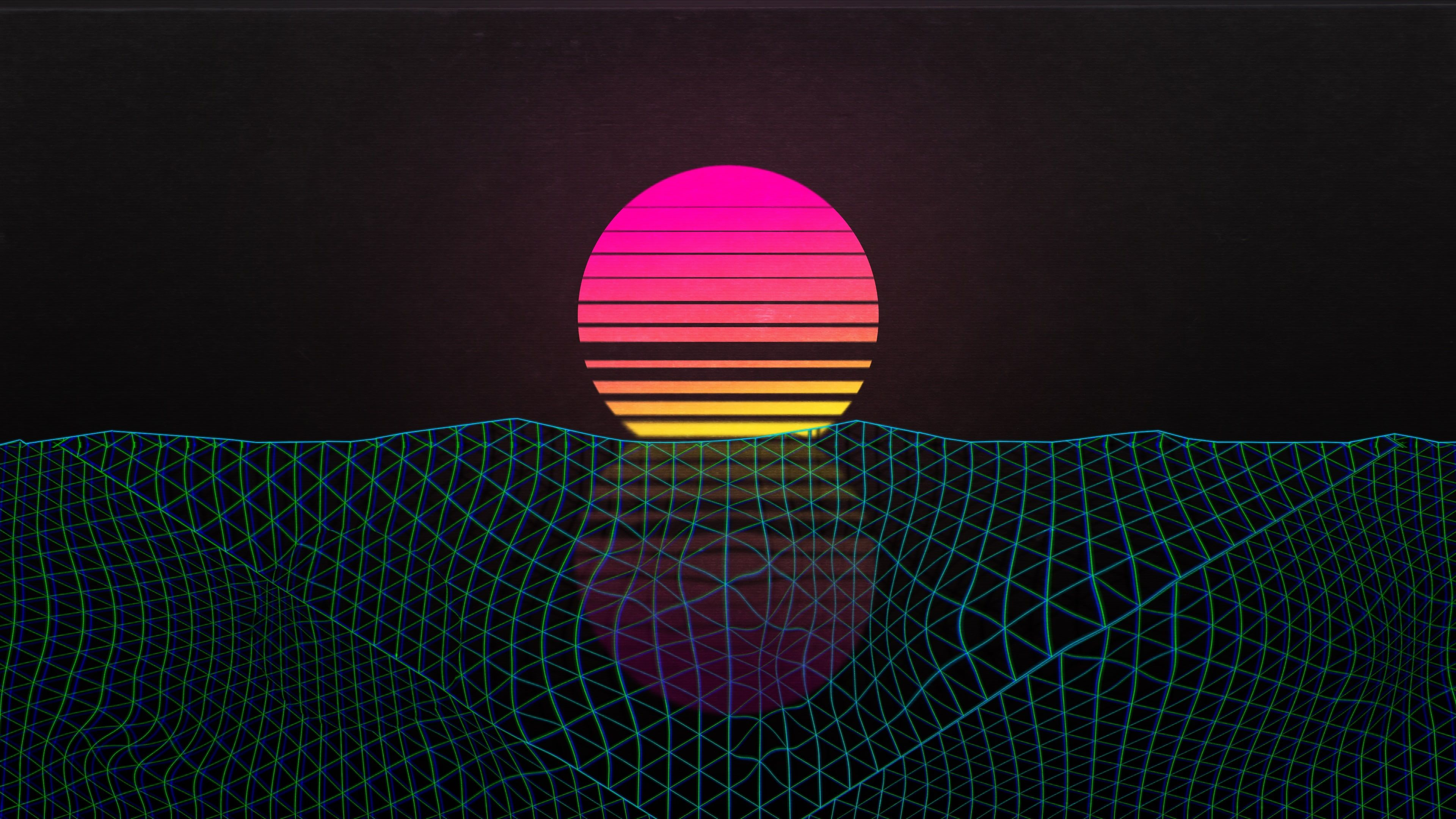 Outrun Sunset Vaporwave 4k Wallpaper Hdwallpaper Desktop Vaporwave Wallpaper Hd Wallpaper Vaporwave